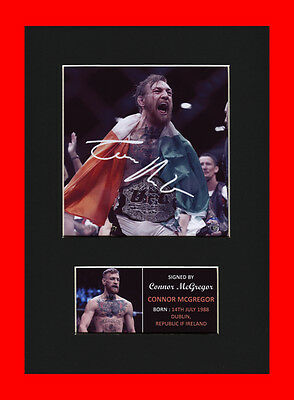 Connor McGregor UFC Quality signed Mounted Pre-Print 12 x 8.2 A4 brand new