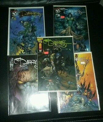 the darkness 1-4 volume 1 plus 1/2 1st print garth ennis image comics witchblade