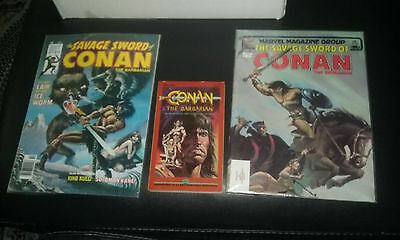 savage sword of conan the barbarian magazine lot 34 85 & movie adaptation tpb