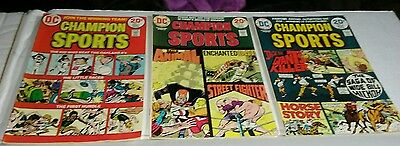 Champion Sports #1-3 vg complete series JOE SIMON dc comics set lot baseball 2
