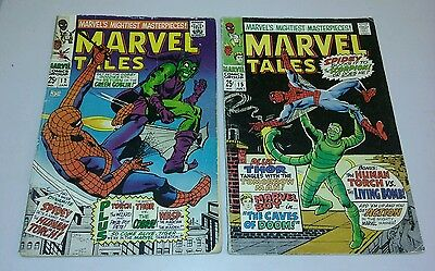 Marvel Tales #12 & 15 1968 amazing spiderman giant size reprints movie dvd lot
