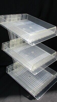 "3-Tier Acrylic Stand Clear Display Brushes Pencils 8 1/2"" Square"