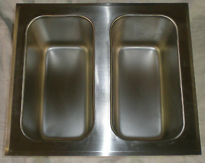 sink  with two 1/3 pan  stainless 5003558