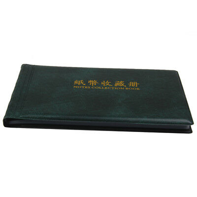 Banknote Currency Collection Album Paper Money Holders Wallet 30 Notes Pages