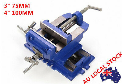 Heavy Duty 2 Way Jaw Cross Drill Press Vise Slide Metal Milling Clamp Machine