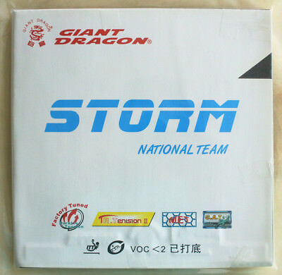 Giant Dragon Storm National Team 2.05Mm Black Table Tennis Rubber New!!