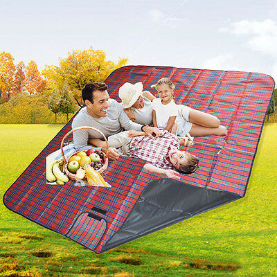 Outdoor Picnic Blanket Camping Mat Picnic Beach Travel Blanket Rug Waterproof