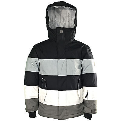New Quiksilver Fracture Boys Ski Snowboarding Jacket Waterproof Youth Warm