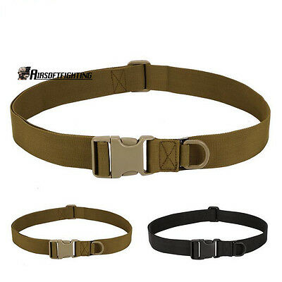 """Tactical 1.5"""" Belt Simple Waistband Fixing Band Buckle for Pouch Accessory Bag"""