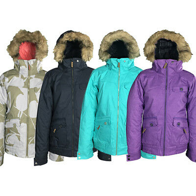 New Roxy Miracle Womens Snow Jacket Ski Snowboard Waterproof Ladies Coat
