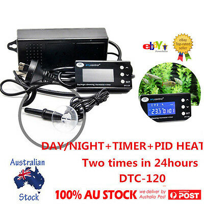 LCD Display Digital Reptile PID Heat Day & Night Timer Thermostat Incubator AU