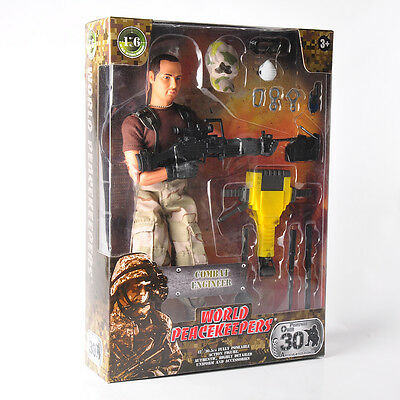 """World Peacekeepers 1/6 Scale Combat Engineer 12"""" Male Figure Weapon Toy 90200C"""