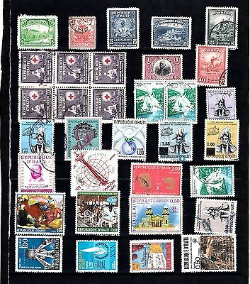 HAITI STAMP Collection USED Including OLDER Issues REF:QC240