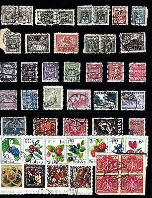 POLAND Stamp Collection USED  majority OLDER issues Ref:QC237