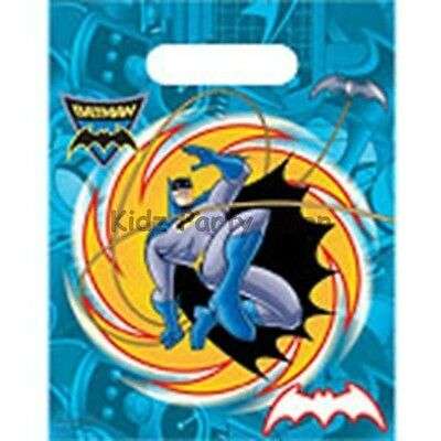 Batman Brave Party - 6 Loot Bags  - Birthday - FREE POSTAGE IN UK