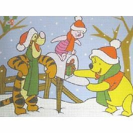 Pooh, Tigger & Piglet Christmas Post - Canvas ONLY