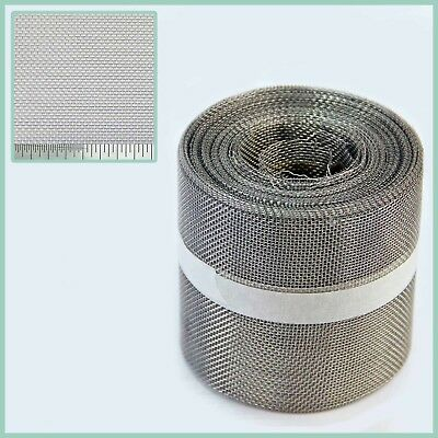 Stainless Steel Insect Mesh Roll 75mm x 10 Metre(#16 1.31mm Hole x 0.28mm Wire)