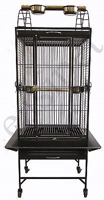 Large Bird Cage Parrot Parakeet Cockatiel Cockatoo Budgie Lovebird Tall Easipet