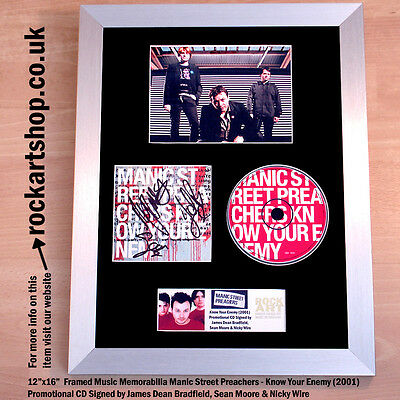 MANIC STREET PREACHERS Know Your Enemy FULLY SIGNED CD COA Autographed *WORLD