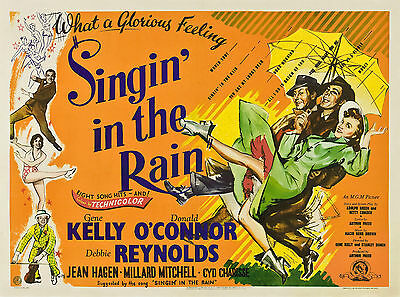 Home Wall Print - Vintage Movie Poster - SINGIN IN THE RAIN - A4,A3,A2,A1