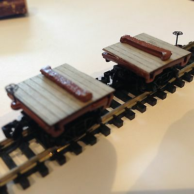 Ulrich N Scale Old Time Log Disconnect  Car Set 6 Pair 12 Individual Disconnects