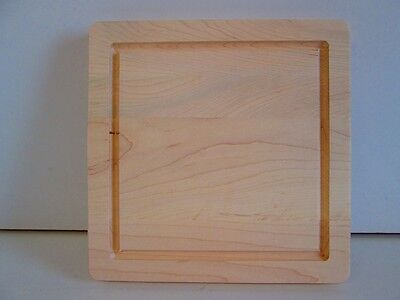Maple Cutting and Serving Board with Well and Handles (1 1/4'' x 12'' x 12'')