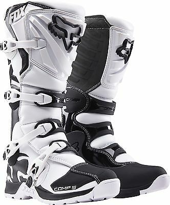 New Fox Racing Comp 5 Motocross Mx Dirtbike Offroad Boots White/ Black All Sizes