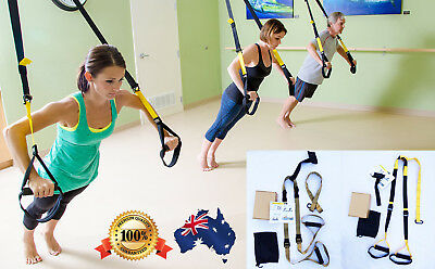 Suspension Training Bodyweight Fitness Exercise System Gym Straps Same as TRX