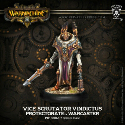 Warmachine: Protectorate of Menoth Vice Scrutator Vindictus Warcaster PIP 32063