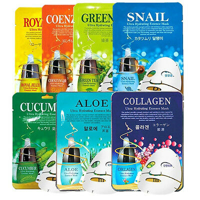 7pcs Facial Skin Care Face Mask Sheet Pack Essence Moisture Korean cosmetics