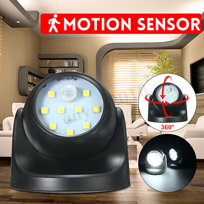 9-LEDs White Motion Activated Light Sensor Battery Wireless Outdoor Wall Lamp