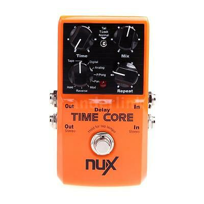 Professional NUX Time Core Guitar Effect Pedal 7 Delay Models True Bypass O2O7