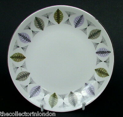 1960's Ridgway White Mist Fanfare Side or Bread Size Plates 15cm - Look in VGC