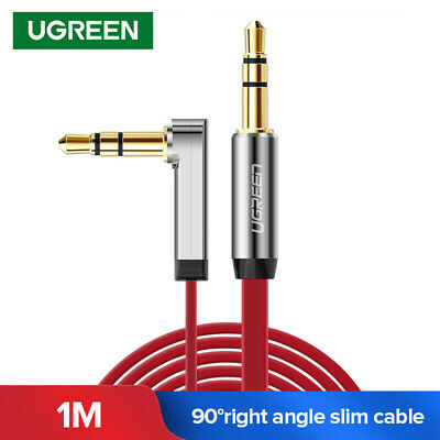 Ugreen 3.5mm Stereo Audio Cable Aux Jack to Jack 90 Degree Angel for iPhone 1m
