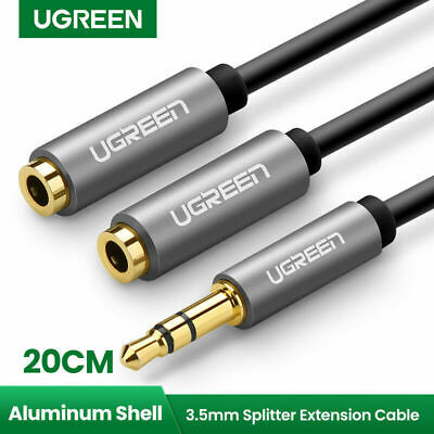 Ugreen 3.5mm Audio Stereo Splitter Cable Extension Headphone Cable for Speaker
