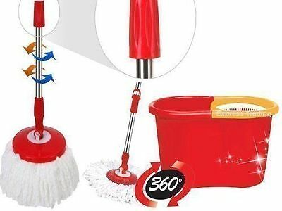 Ashley 360 Degree Spinning Mop Bucket Home Cleaner Cleaning With Two Mop Heads
