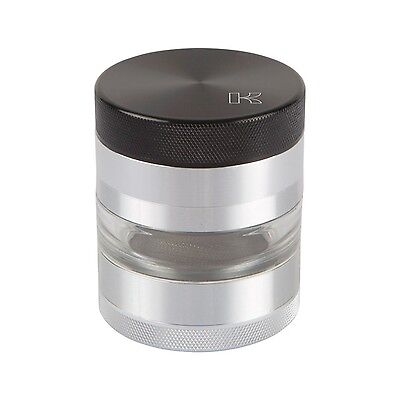 "Kannastor 4 Piece 2.2"" Solid Top Grinder with Clear Jar Section"
