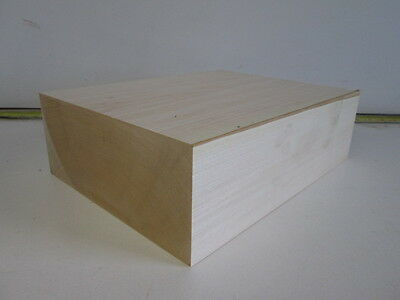 Huge Basswood Wood Carving Block Turning Blank (3 3/4'' x 9'' x 12'')