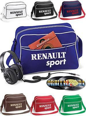 Retro Shoulder Bag with RENAULT SPORT Logo - megane clio 182 laguna 16v flight