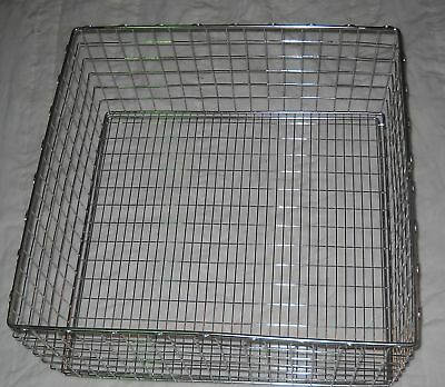 """Wire tote Stainless, 20"""" x 20.75"""" x 9.5"""", 5003631"""
