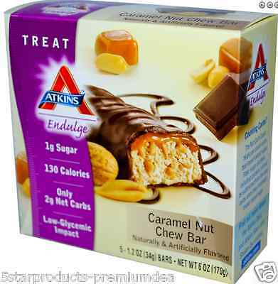New Atkins Endulge Caramel Nut Chew Bar Healthy Snack Grocerie Food Nutritional