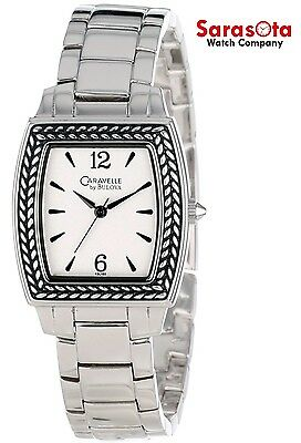 Caravelle by Bulova 43L150 White Dial Stainless Steel Quartz Women's Watch