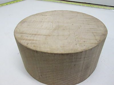 Curly Maple Bowl Turning Blank (3'' x 6 1/4'')