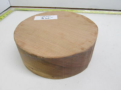 "Colour Cherry Wood Turning Bowl Blank (3"" x 8 1/4'')"