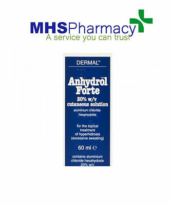 Anhydrol forte Roll on 20% Sol 60ml AntiPerspirant excessive sweating treatment