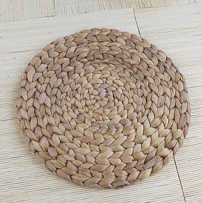 30cm Natual Straw Weave Water Hyacinth Dinner Mat Placemat KitchenTablemat Round