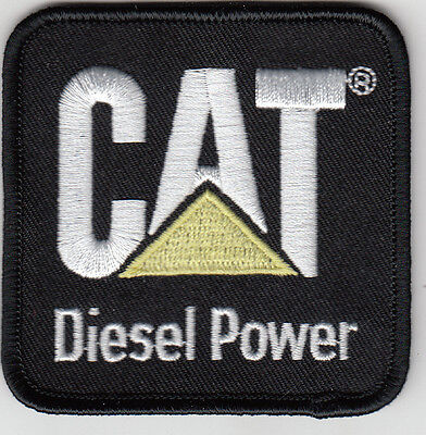 Cat Diesel Power Embroidered Patch