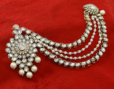 Ethnic Bridal Head Chian Maang Tikka Passa Jewelry Indian Wedding Accessory