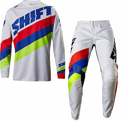 New 2017 Shift Racing White Label Tarmac Gear Combo Dirt Bike White Size 38/xxl