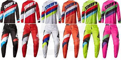 Shift MX Racing Whit3 Tarmac Jersey & Pant Motocross ATV/MTB Off Road Shirt 2017